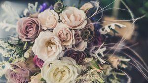 Preview wallpaper bouquet, flowers, design, composition