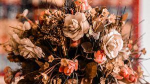 Preview wallpaper bouquet, vase, composition, flowers, decoration