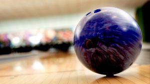 Preview wallpaper bowling, ball, blurred background