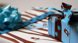 Preview wallpaper box, ribbon, gift, patterns