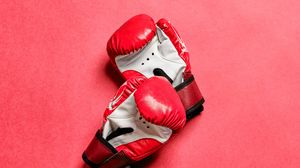 Preview wallpaper boxing gloves, gloves, boxing, red, sport