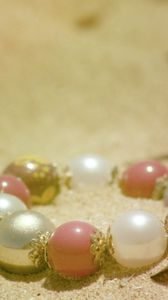 Preview wallpaper bracelet, jewelry, sand, light
