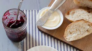 Preview wallpaper bread, jam, plate, breakfast