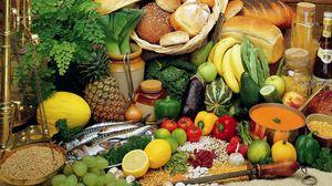 Preview wallpaper bread, vegetables, fruit, allsorts, fish, groats