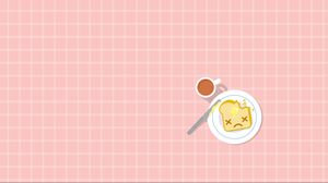 Preview wallpaper breakfast, sandwich, cup, eating