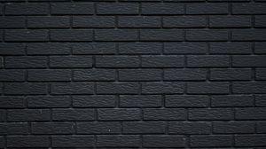 Preview wallpaper brick, wall, texture, black