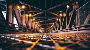Preview wallpaper bridge, backlight, chicago, construction