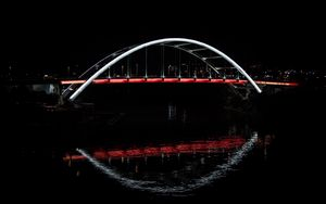 Preview wallpaper bridge, glow, water, dark