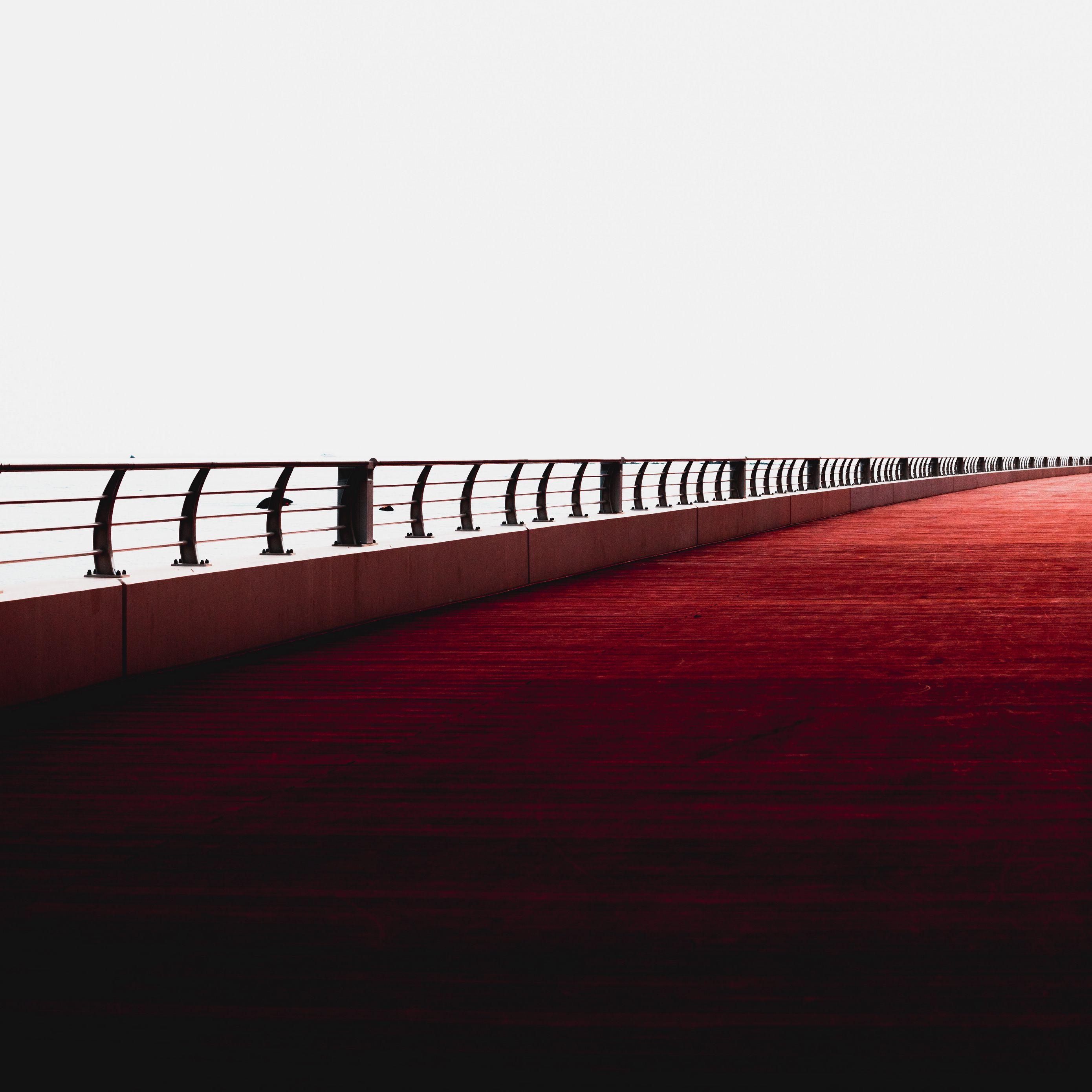 2780x2780 Wallpaper bridge, minimalism, railing, dubai, united arab emirates