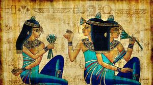 Preview wallpaper brunette, girl, ancient, egypt, drawing