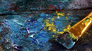 Preview wallpaper brush, oil, dark, canvas