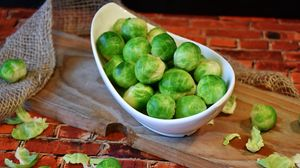 Preview wallpaper brussels sprouts, vegetable, dish