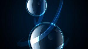 Preview wallpaper bubbles, circles, abstraction, dark
