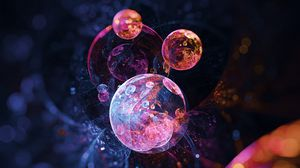 Preview wallpaper bubbles, circles, colorful, abstraction
