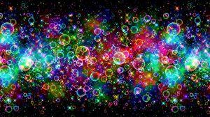 Preview wallpaper bubbles, colorful, bright