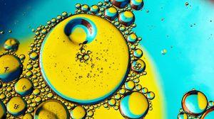 Preview wallpaper bubbles, liquid, oil, transparent, macro