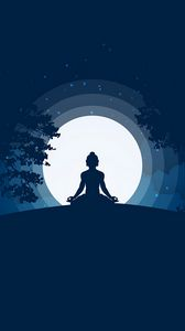 Preview wallpaper buddha, buddhism, meditation, harmony, silhouette