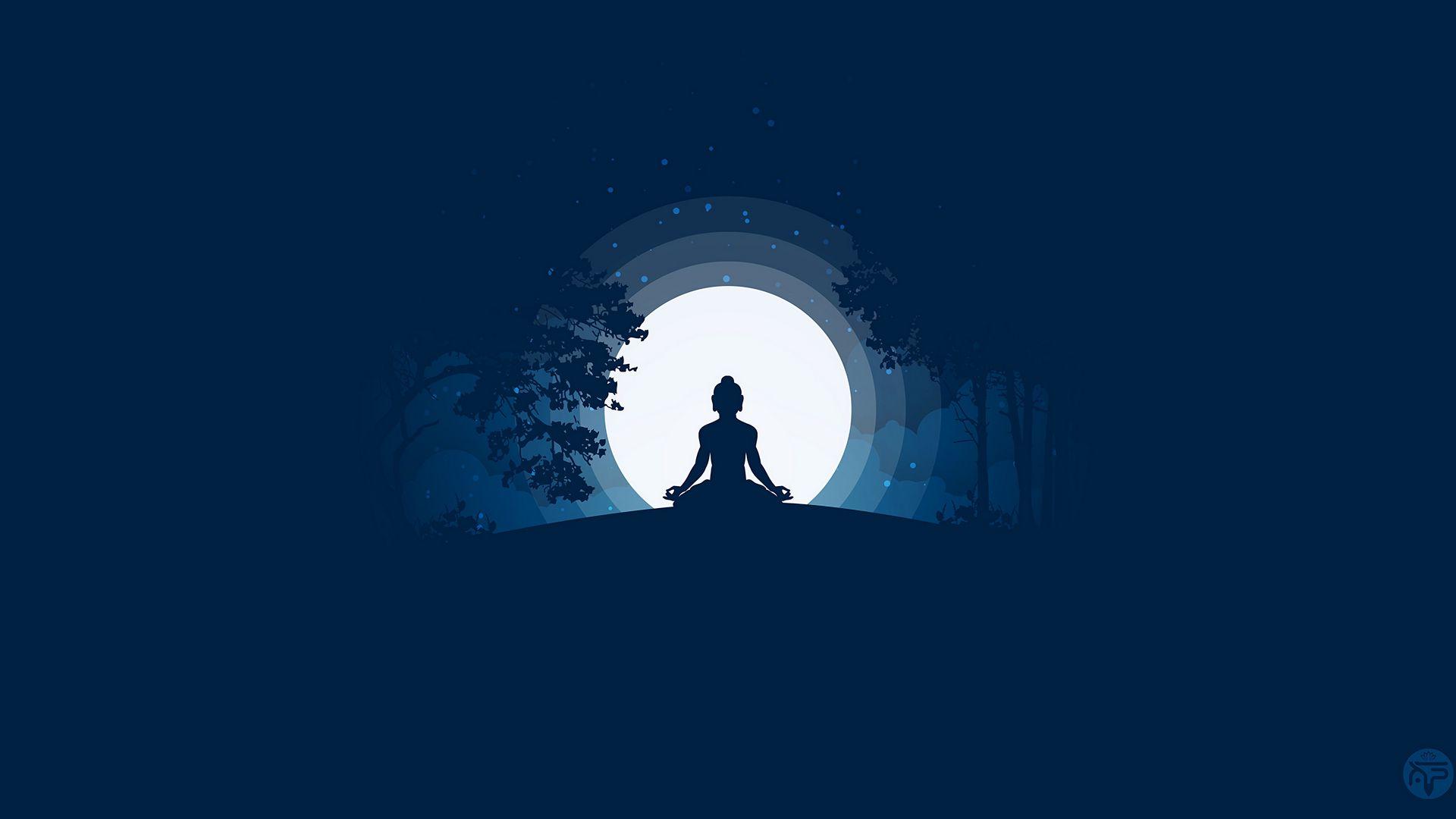 1920x1080 Wallpaper buddha, buddhism, meditation, harmony, silhouette