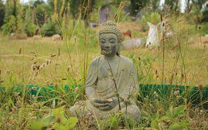 Preview wallpaper buddha, buddhism, meditation, grass