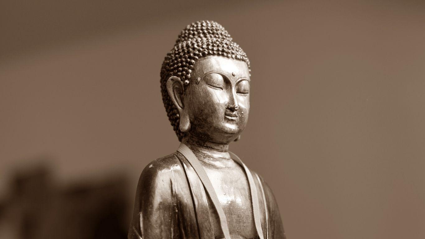 1366x768 Wallpaper buddha, meditation, east, figurine