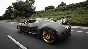 Preview wallpaper bugatti, veyron, side view