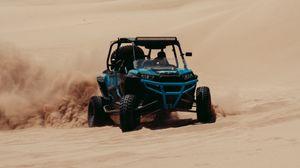 Preview wallpaper buggy, desert, sand, drift, off-road