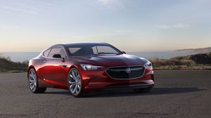 Preview wallpaper buick, avista, concept, red, side view