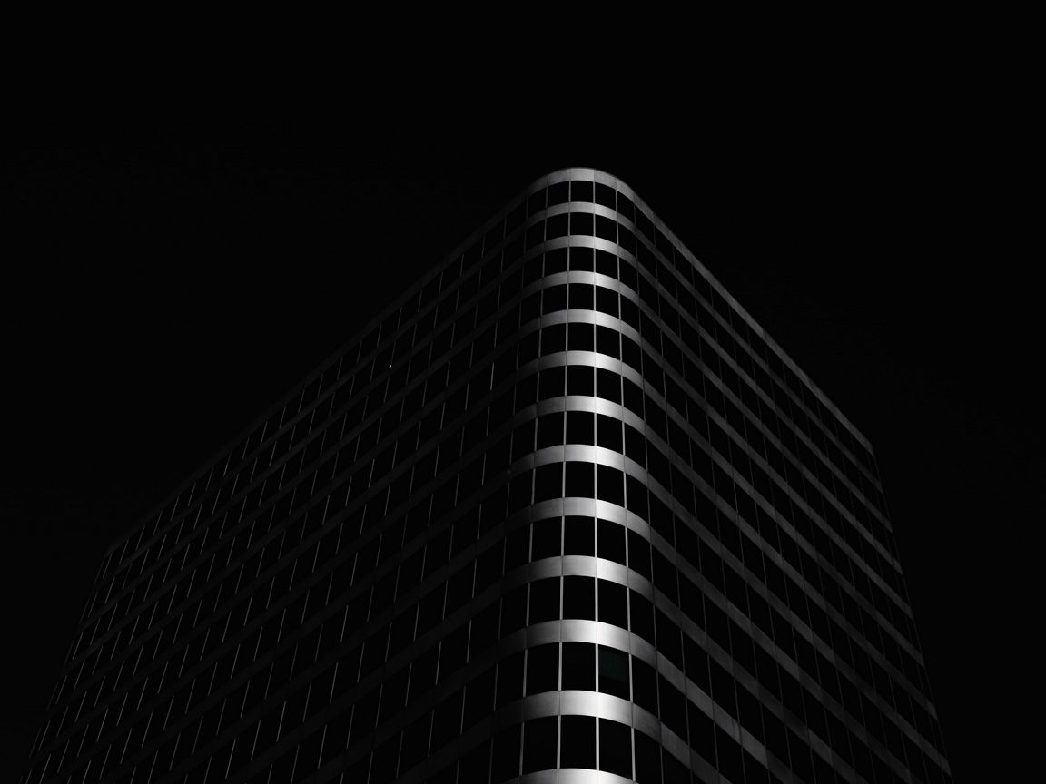 1152x864 Wallpaper building, architecture, black, dark