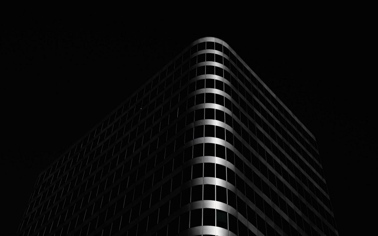 1280x800 Wallpaper building, architecture, black, dark