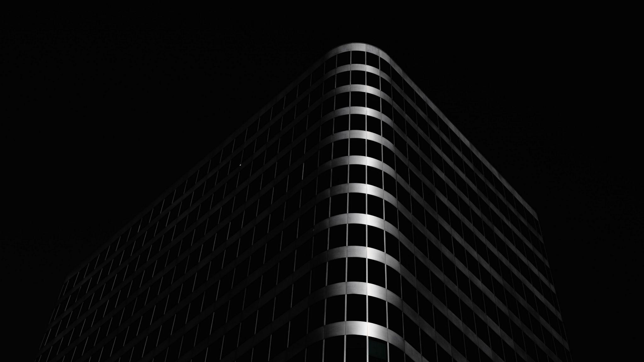 2048x1152 Wallpaper building, architecture, black, dark
