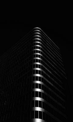 240x400 Wallpaper building, architecture, black, dark