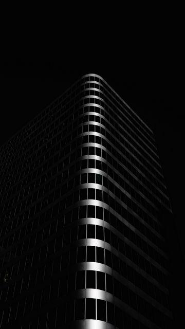 360x640 Wallpaper building, architecture, black, dark