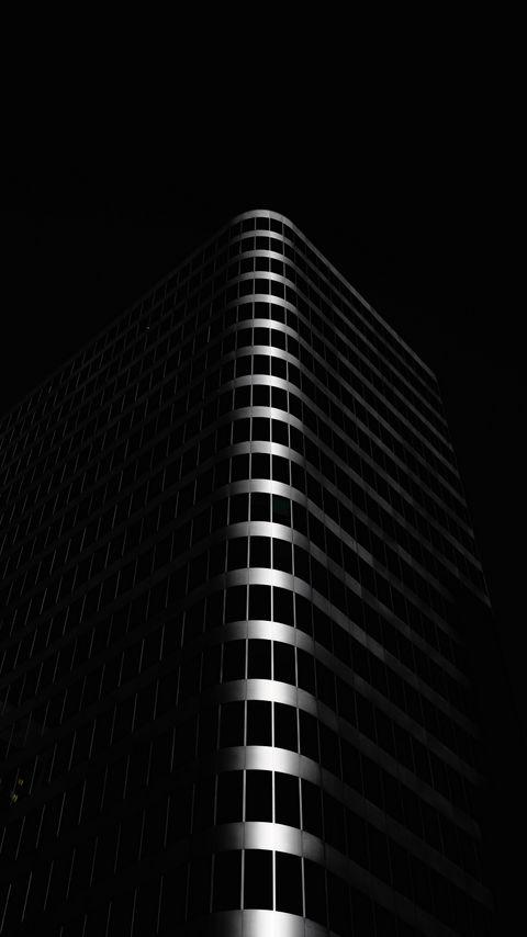 480x854 Wallpaper building, architecture, black, dark