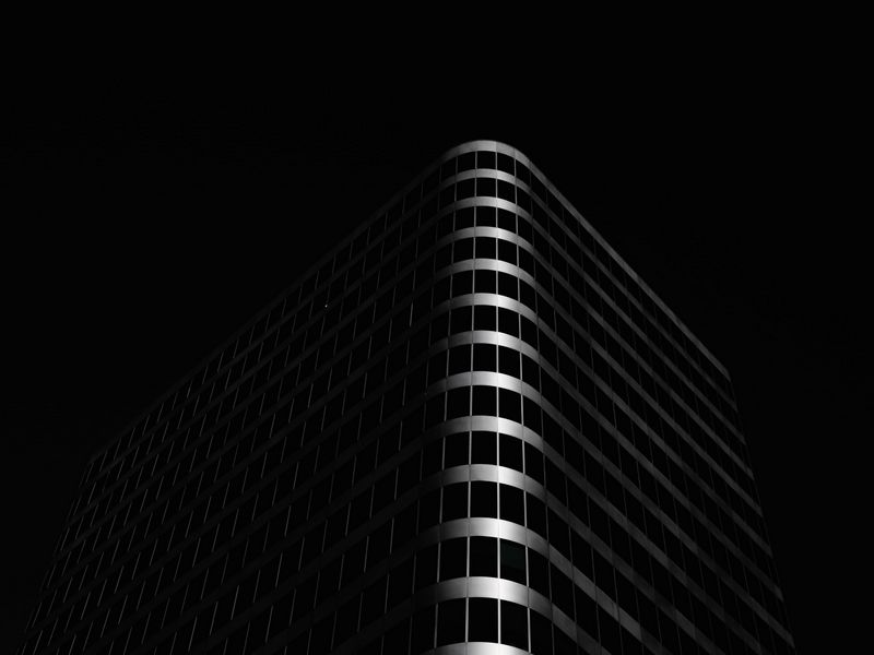 800x600 Wallpaper building, architecture, black, dark