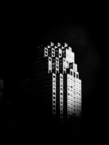 Preview wallpaper building, architecture, black and white, black