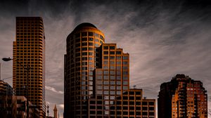 Preview wallpaper building, architecture, clouds, reflection, twilight