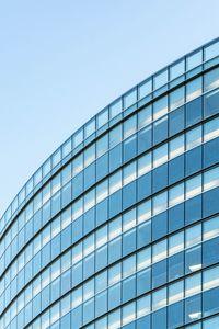 Preview wallpaper building, architecture, glass, blue, minimalism