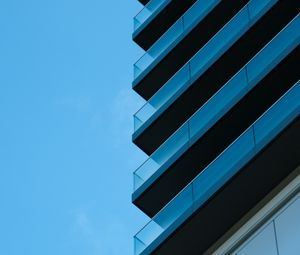Preview wallpaper building, architecture, glass, sky, blue, minimalism