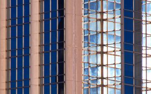 Preview wallpaper building, architecture, glass, reflection, facade