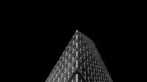 Preview wallpaper building, architecture, minimalism, black and white, black