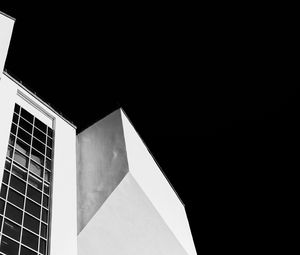 Preview wallpaper building, architecture, night, black and white, black