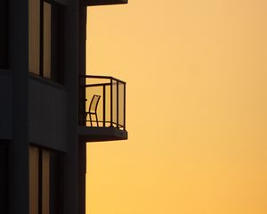 Preview wallpaper building, architecture, silhouettes, minimalism
