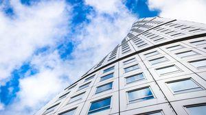 Preview wallpaper building, architecture, skyscraper, windows, bottom view