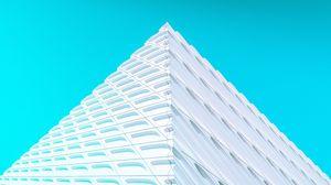Preview wallpaper building, facade, architecture, corner, white, minimalism, symmetry