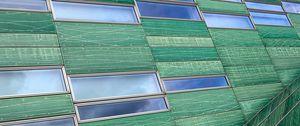 Preview wallpaper building, facade, panels, windows, green