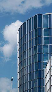 Preview wallpaper building, glass, architecture, blue