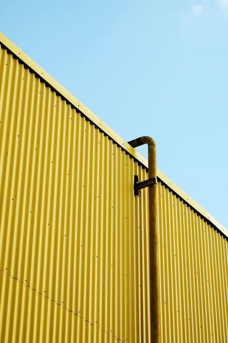 800x1200 Wallpaper building, pipe, yellow, minimalism