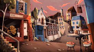Preview wallpaper city, art, street, shops
