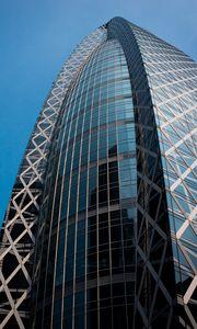 Preview wallpaper building, skyscraper, architecture, bottom view, glass