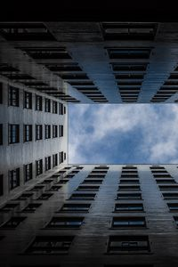 Preview wallpaper building, windows, architecture, sky, clouds, bottom view